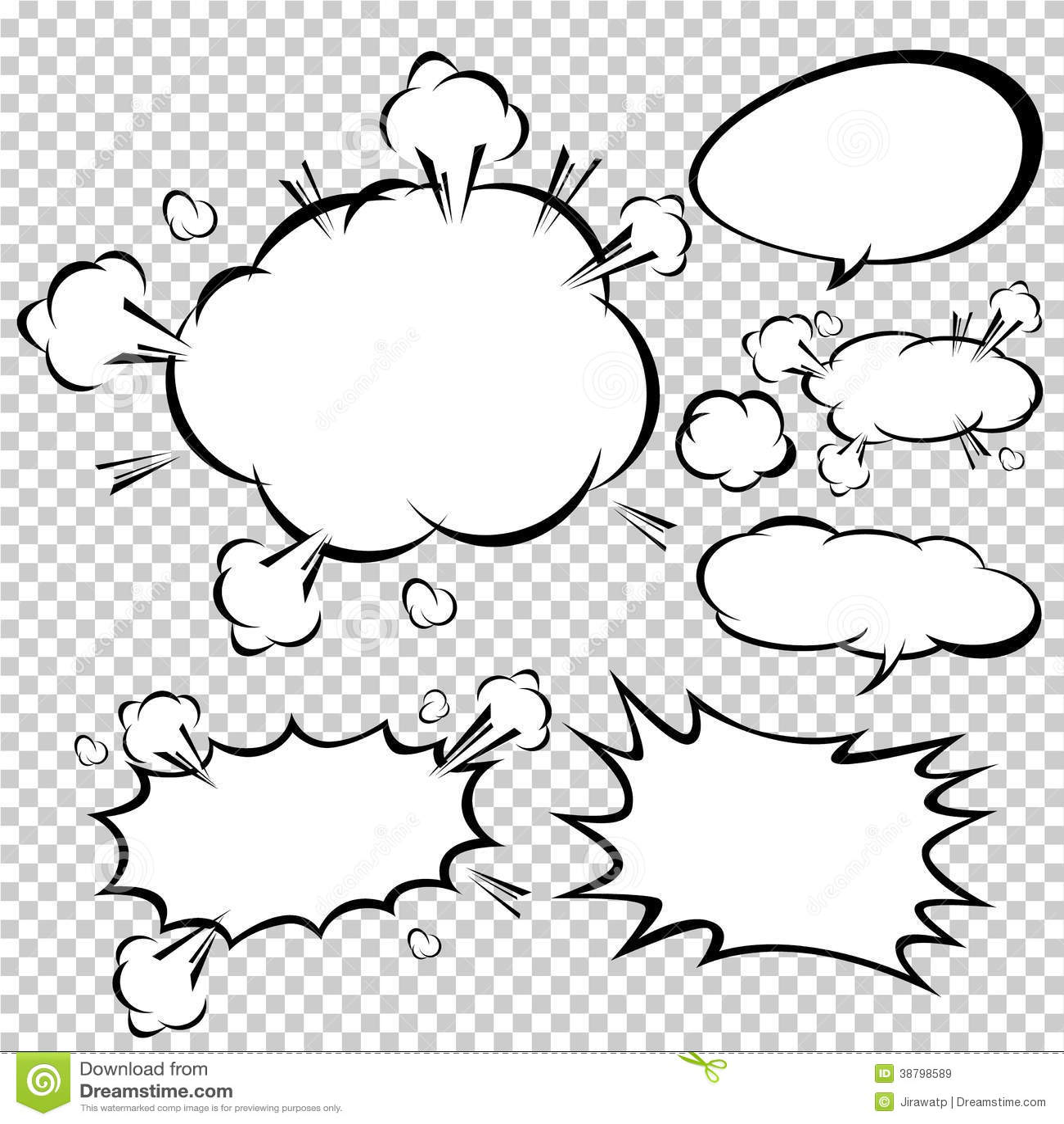 Comic Speech Bubbles,Vector Illustration Stock