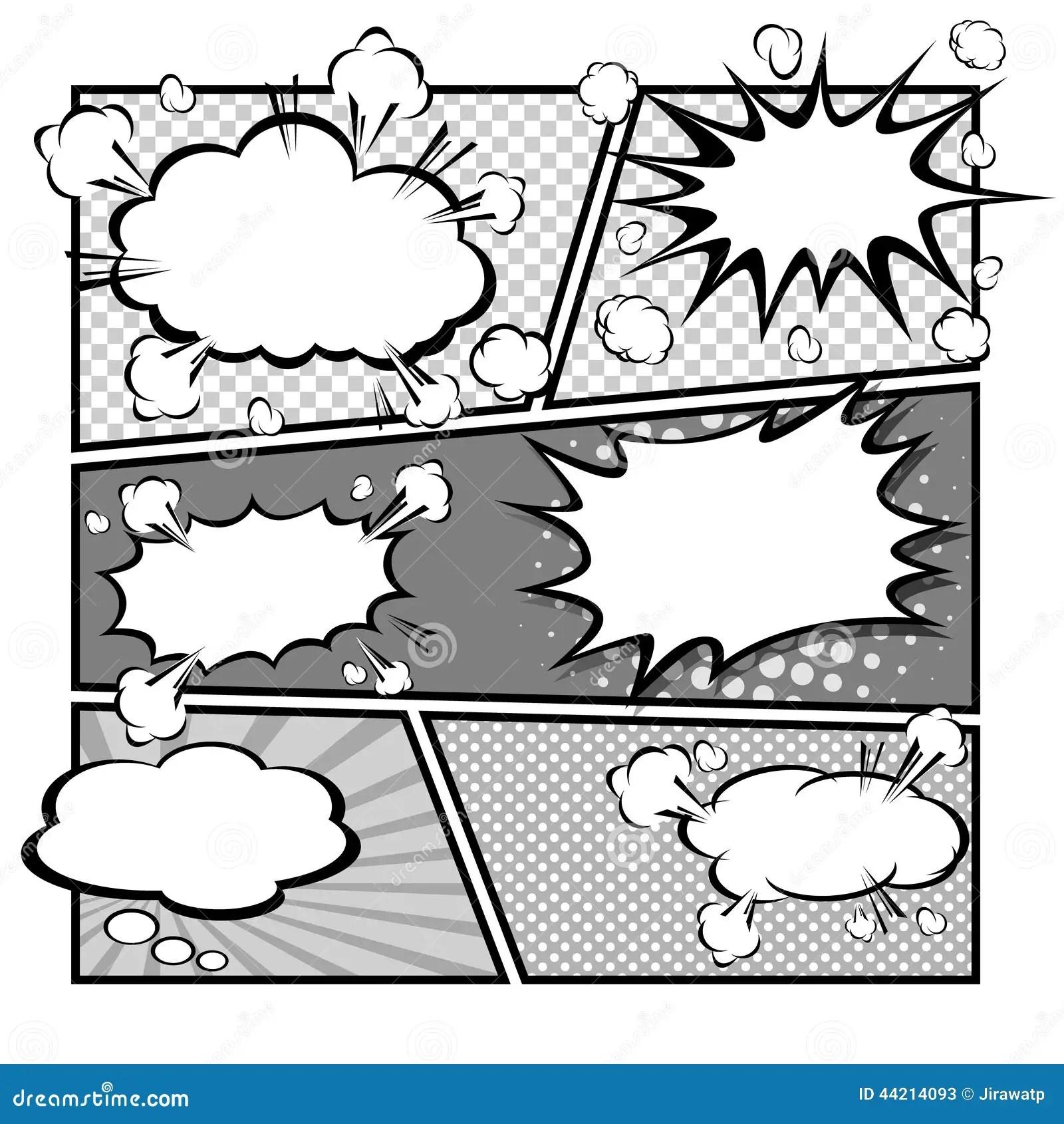 Comic Speech Bubbles Vector Illustration Stock Vector