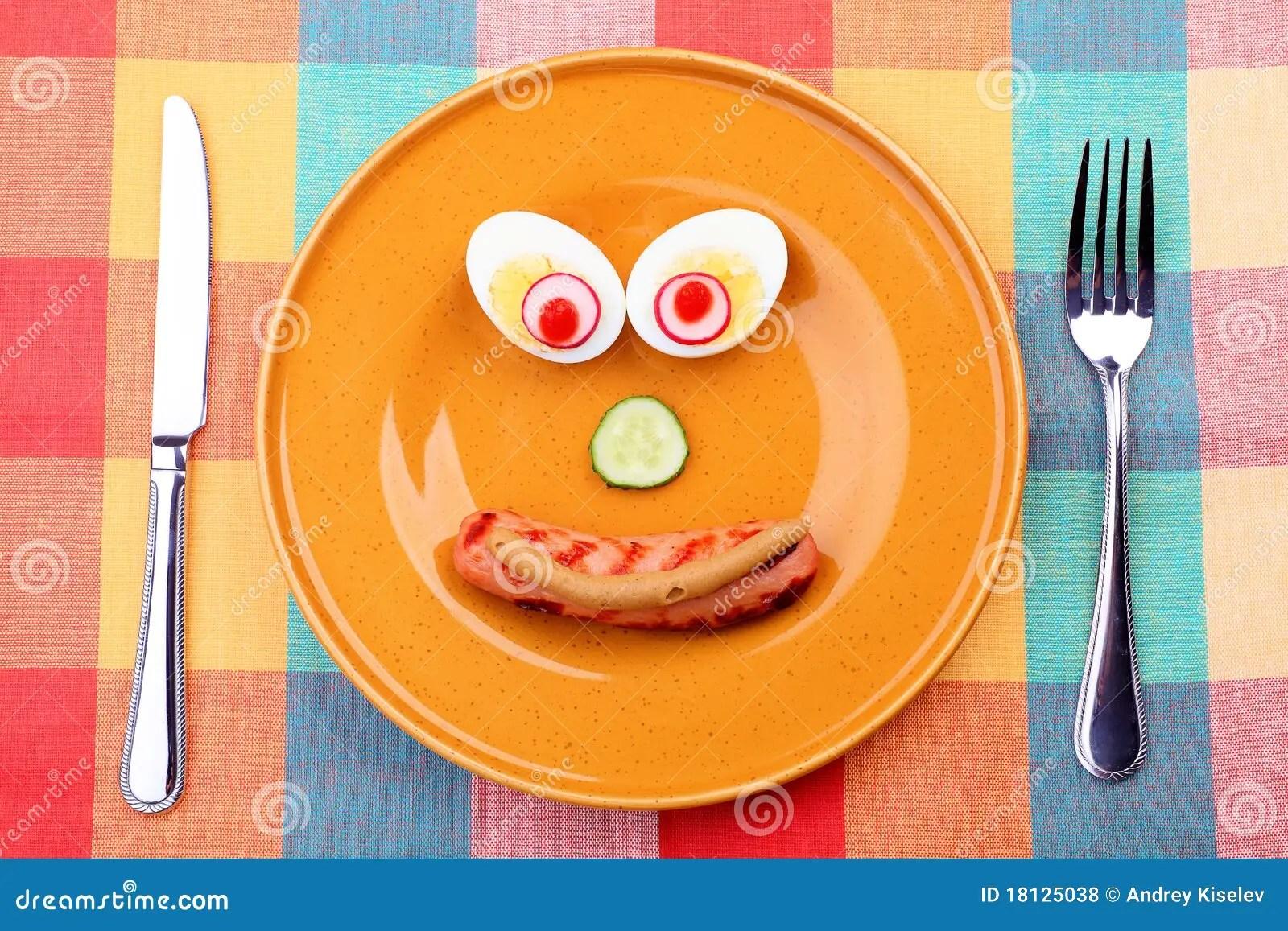 Comida feliz foto de archivo Imagen de concepto cena