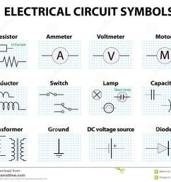 common circuit diagram symbols stock vector illustration of rh dreamstime com modern icons wiring diagram [ 1300 x 1101 Pixel ]