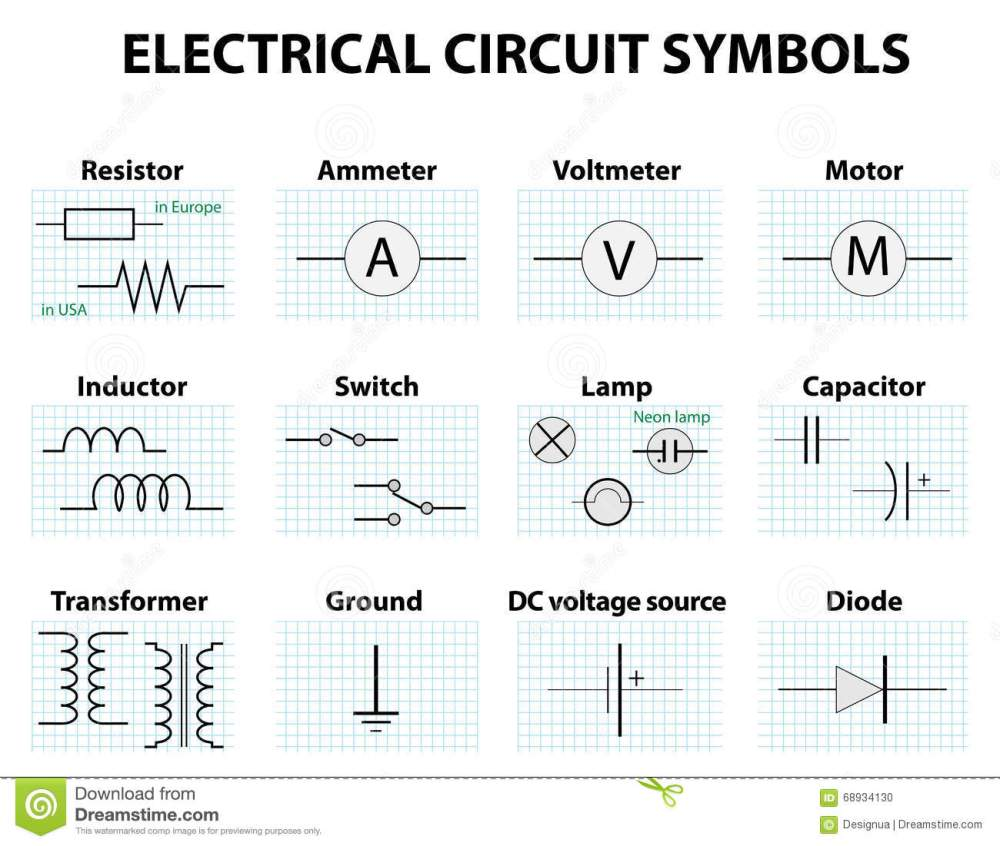 medium resolution of common circuit diagram symbols stock vector illustration of rh dreamstime com modern icons wiring diagram