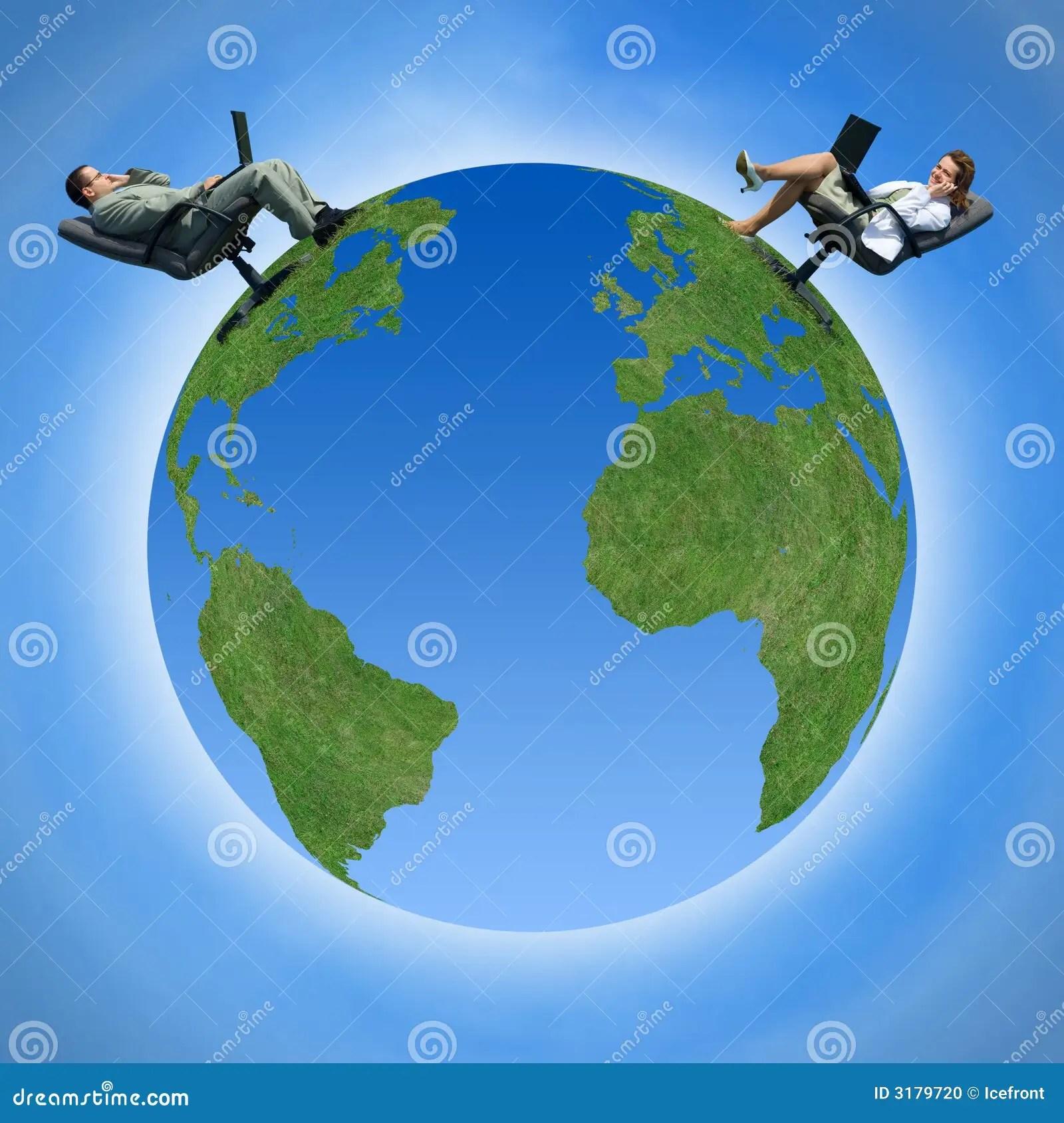 Communication Around The Globe Stock Photo  Image 3179720