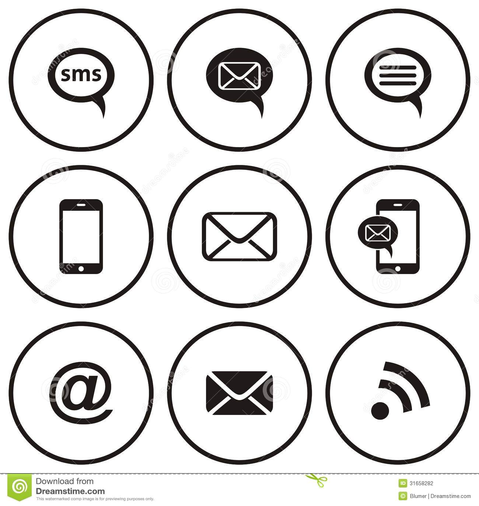 Communication Icons Stock Vector Illustration Of Internet