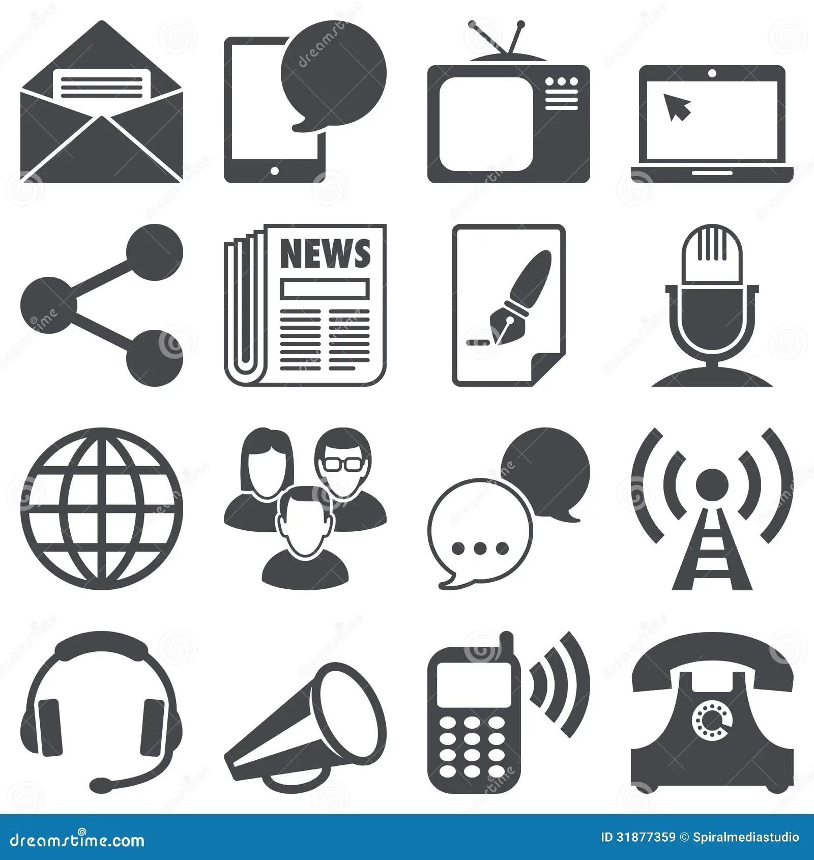 Communication Icons Royalty Free Stock Images