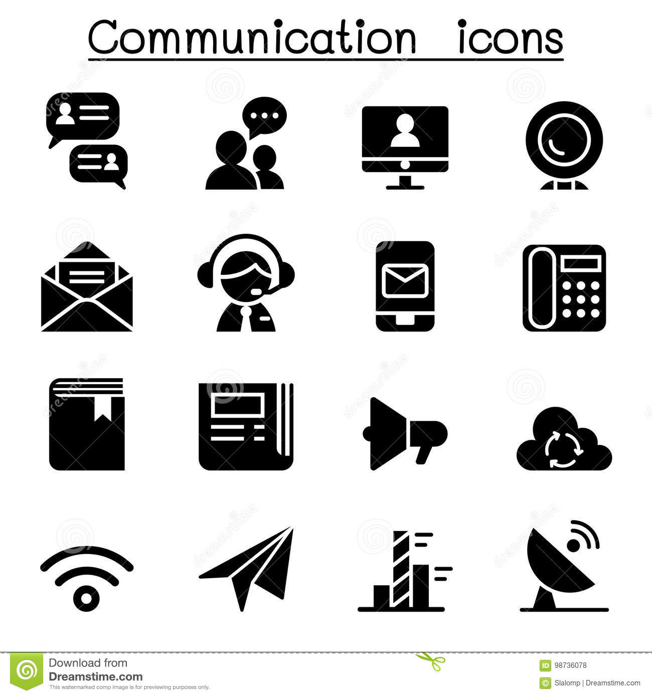 Communication Icons Stock Illustration Illustration Of