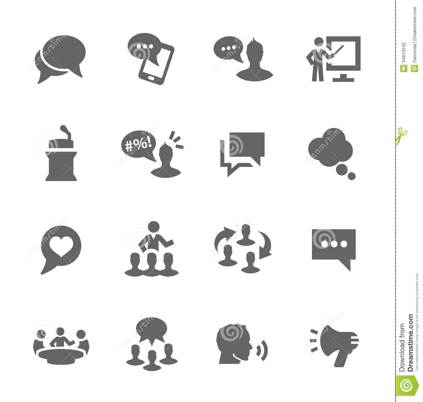 Communication Icons Stock Vector Illustration Of