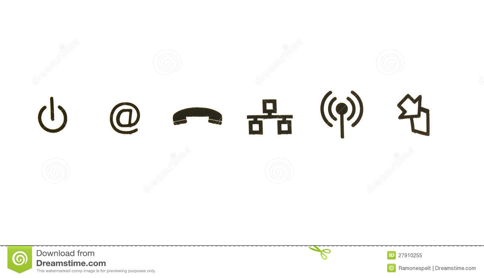 Communication symbols stock image. Image of idea