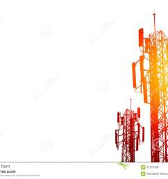 communication tower or 3g 4g network telephone cell site on white [ 1300 x 957 Pixel ]