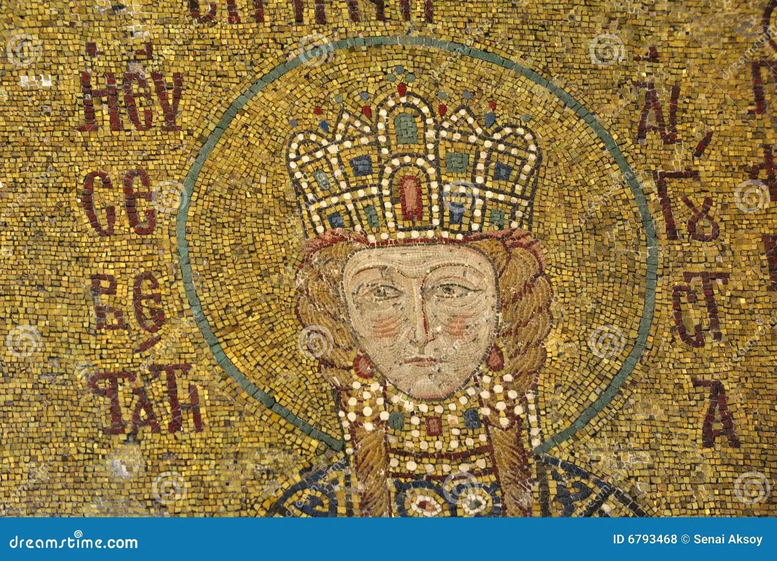 The Comnenus Mosaics Hagia Sophia Istanbul Stock Photo