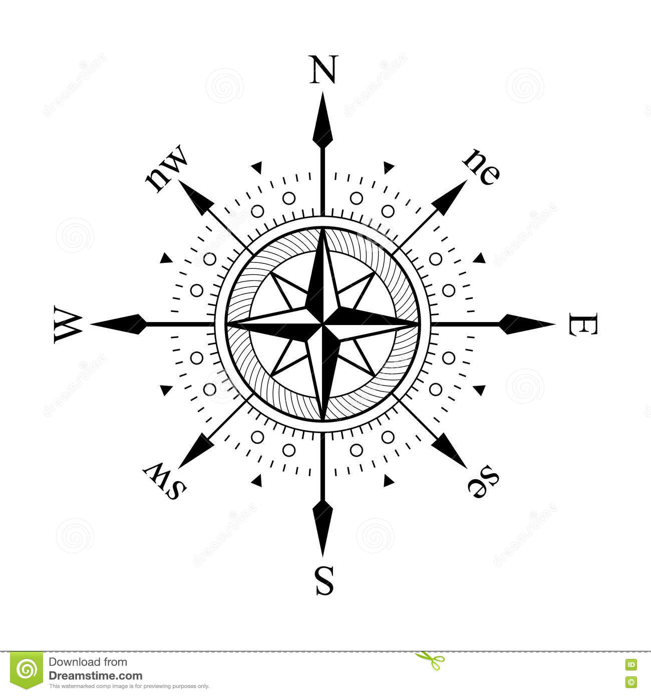 Compass stock vector. Illustration of sign, cruise