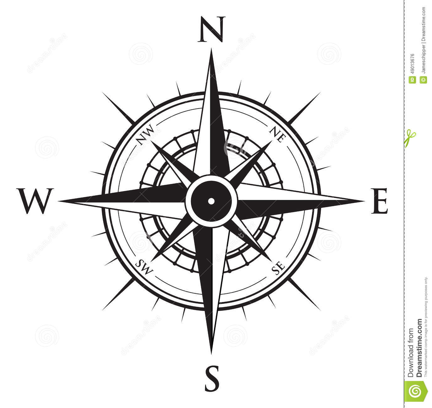 Compass background stock vector. Illustration of button