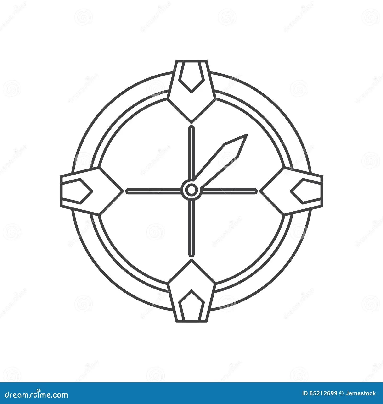 Compass Location Gps Tool Travel Thin Line Stock Vector