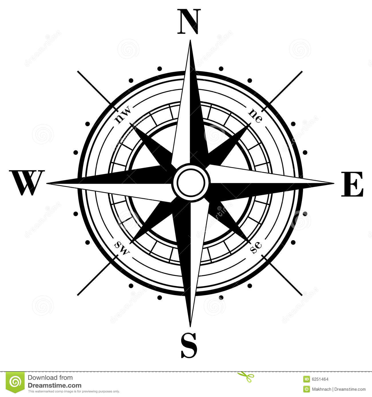 Compass Rose Stock Vector Illustration Of Geography Dial