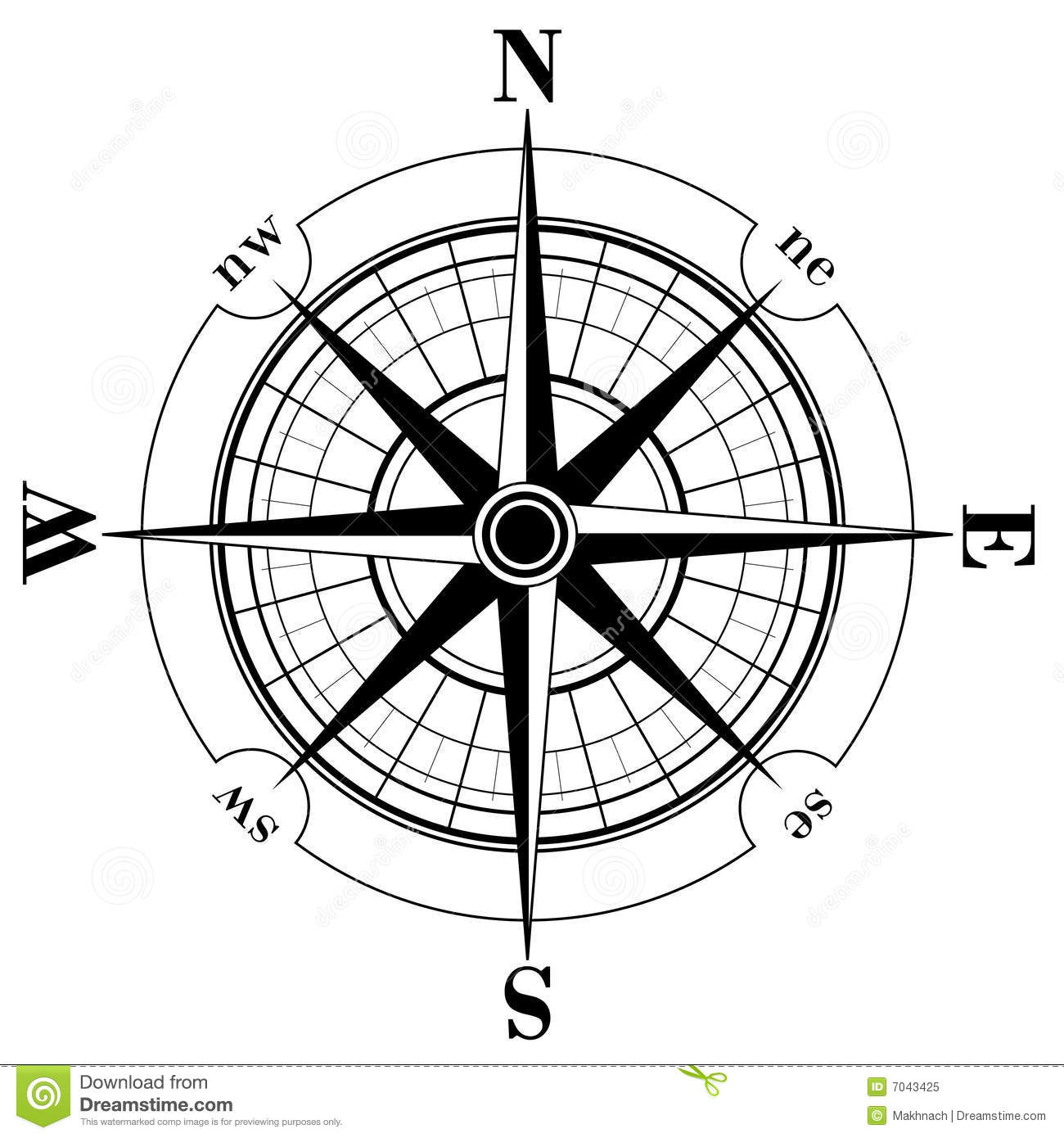Compass Rose Stock Vector Illustration Of Adventure