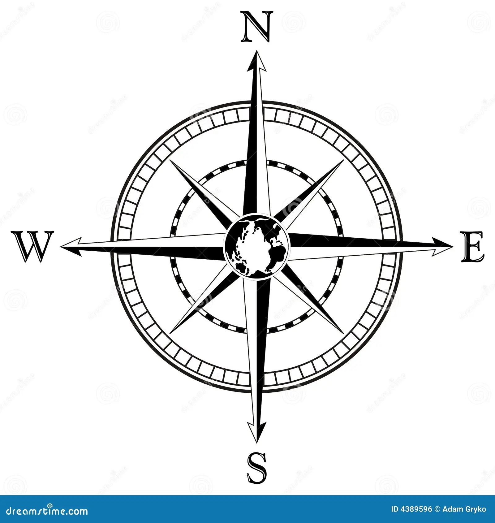 Compass Rose Illustration Stock Vector Illustration Of