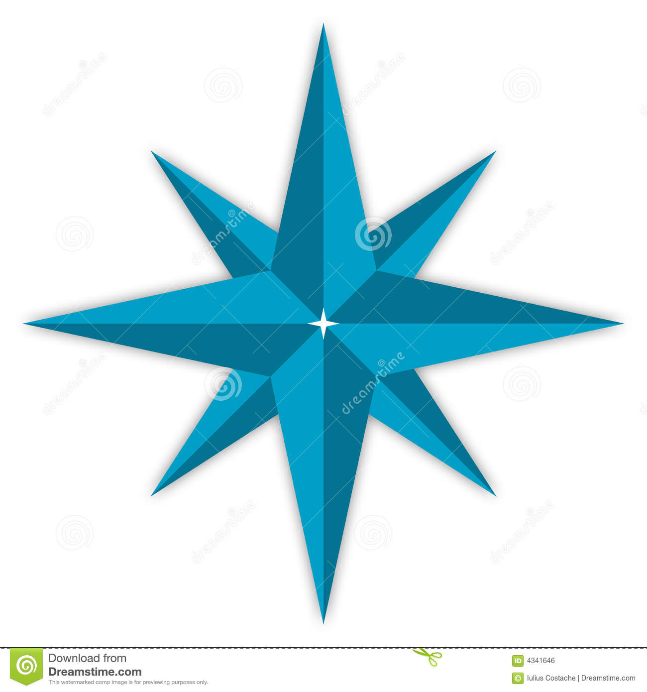 Compass Star Royalty Free Stock Image - Image: 4341646