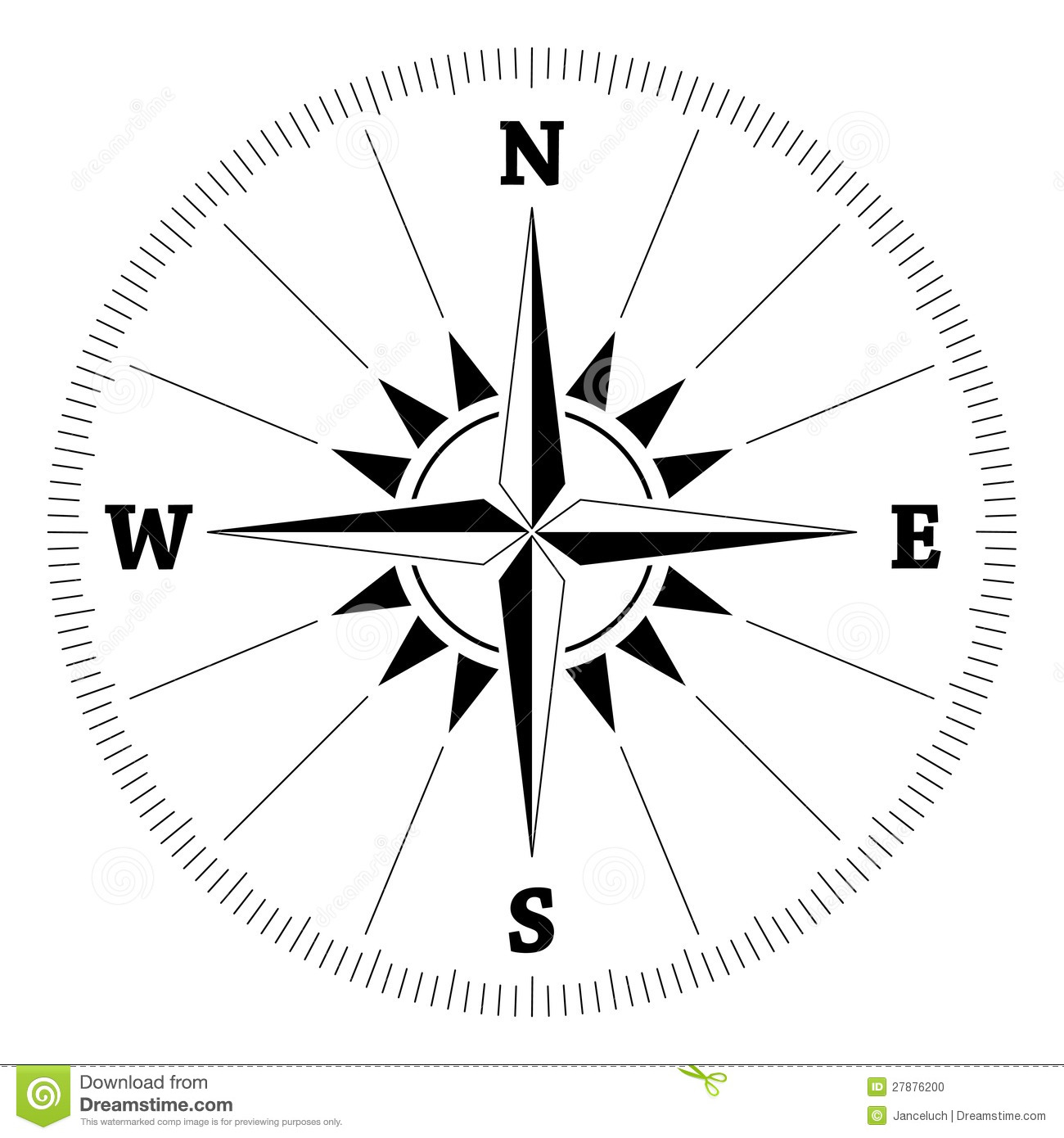 Compass Wind Rose Stock Vector Illustration Of Travel