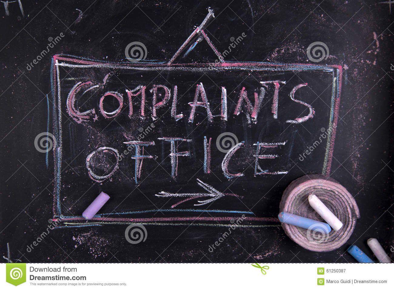 complaints office stock image