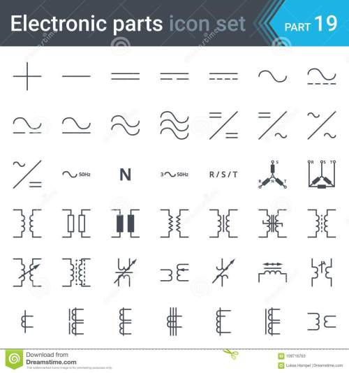 small resolution of complete vector set of electric and electronic circuit diagram symbols and elements current three phase connections and electrical transformers