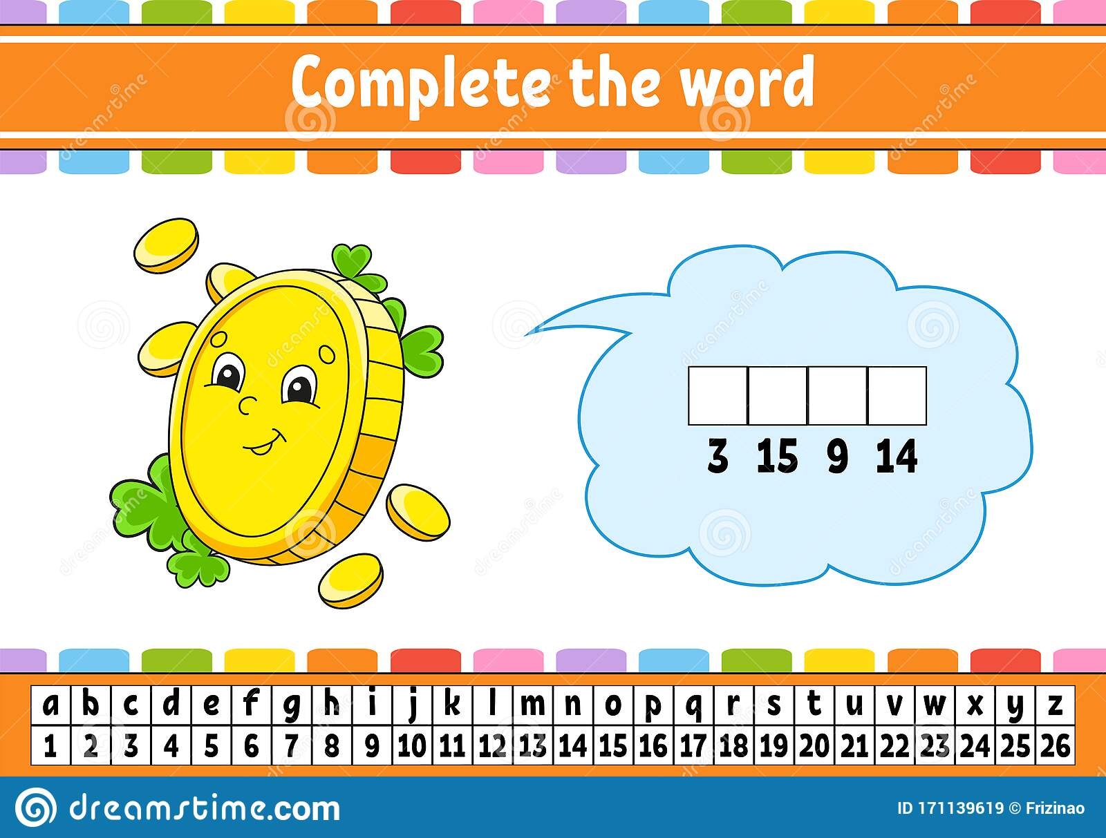 Complete The Words Cipher Code Gold Coin Learning