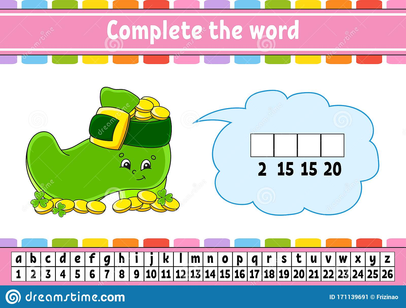 Complete The Words Cipher Code Leprechaun Boot With
