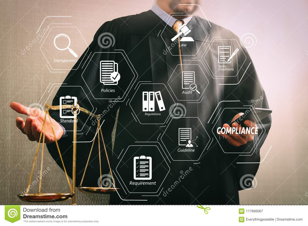 hight resolution of male judge in a courtroom with the balan