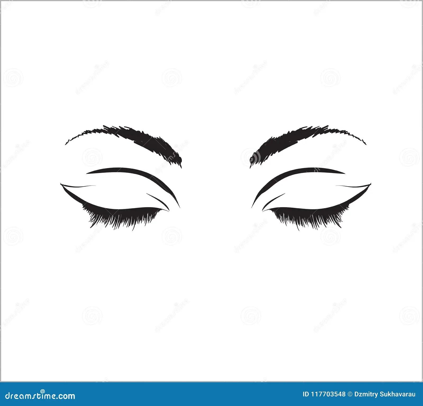 Eyelashes Ilustracoes Vetores E Clipart De Stock 9 486