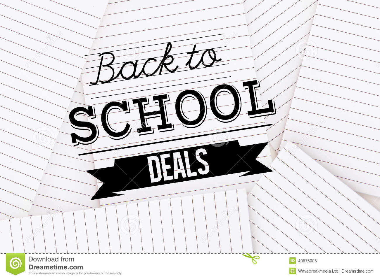 Composite Image Of Back To School Deals Message Stock