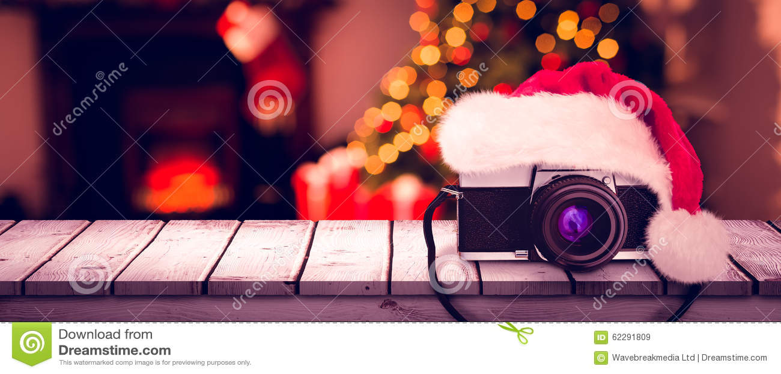 Composite Image Of Christmas Camera Stock Illustration
