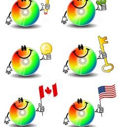 computer cd cartoons [ 1154 x 1300 Pixel ]