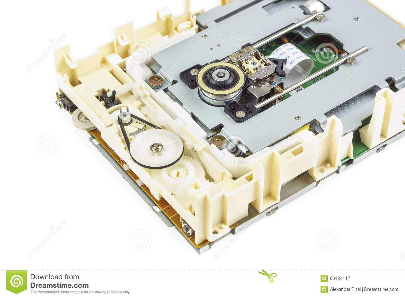 Computer Cd Rom Drive Disassembled 03 Stock Image