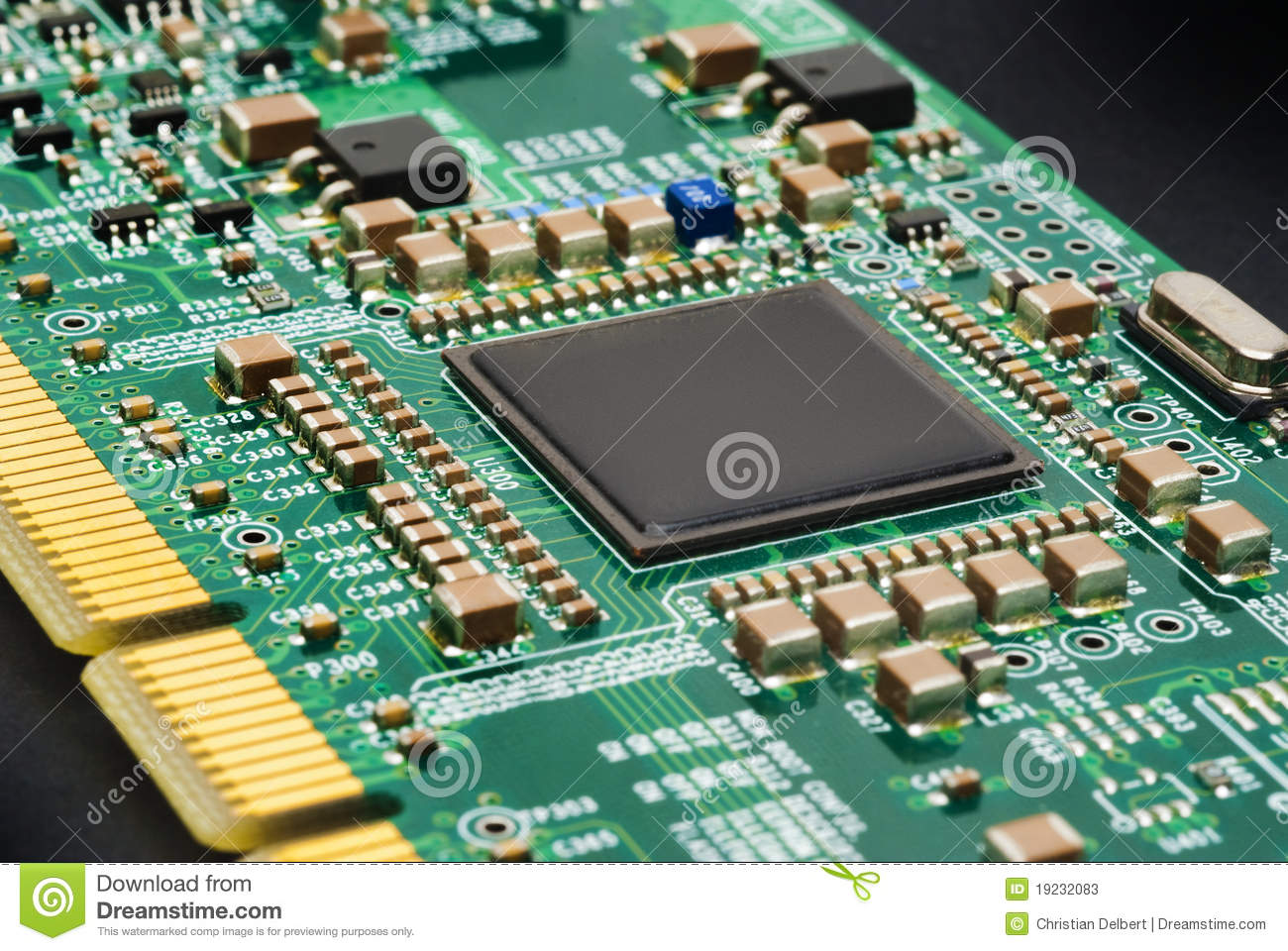 Circuit Board From A Computer