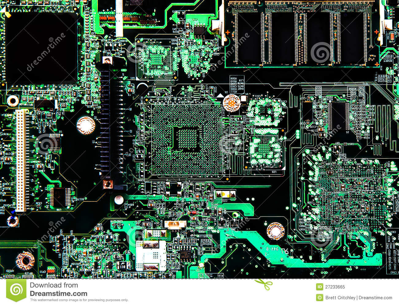 Computer Circuit Board Stock Image. Image Of Board, Chip