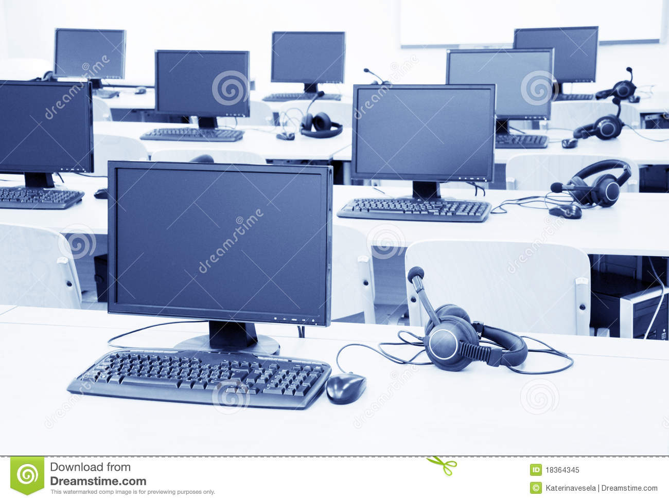 office chairs unlimited hanging chair gauteng computer classroom royalty free stock photo - image: 18364345