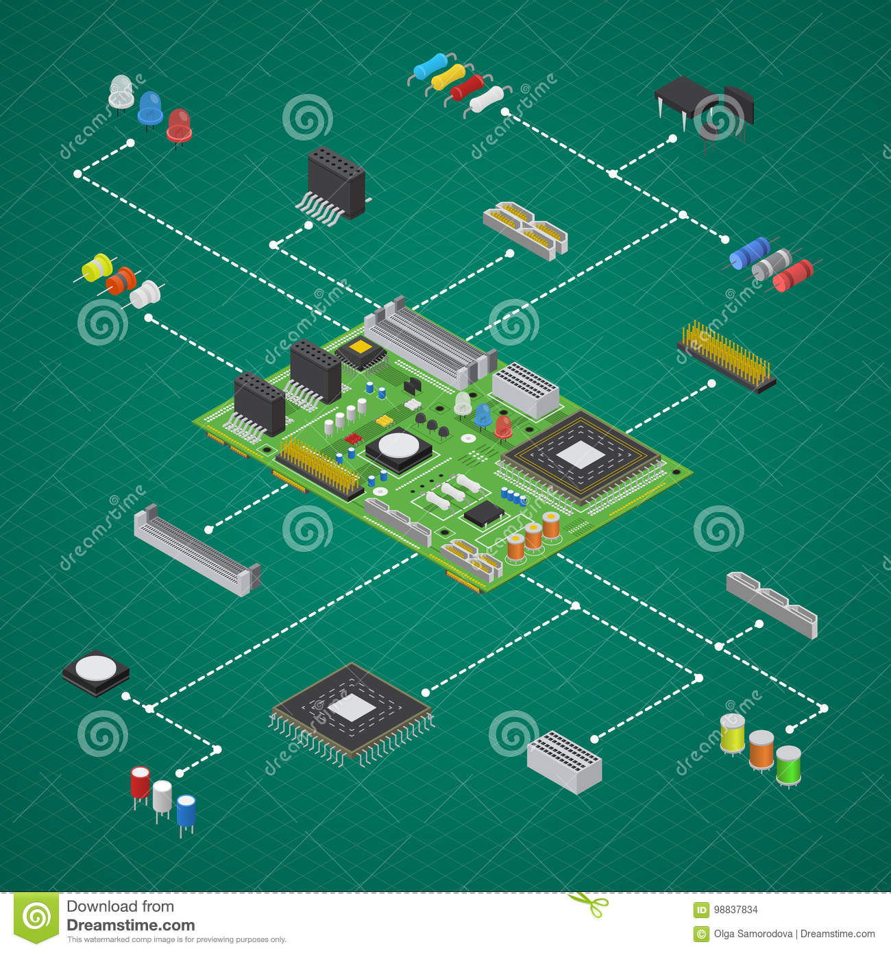 The Circuit Was Designed To Illustrate The Operation Of An Electronic
