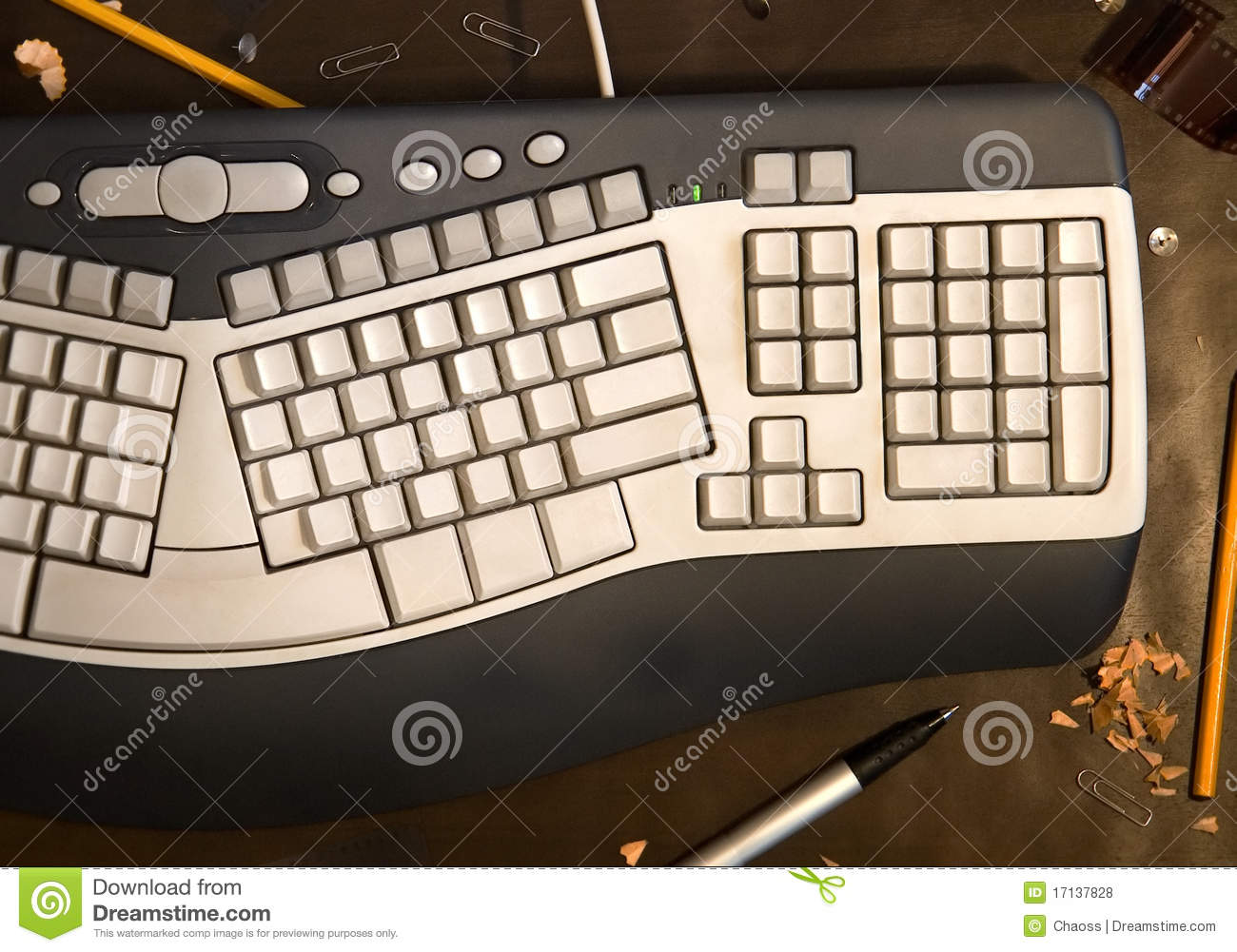 Computer Keyboard With Blank Buttons Stock Photo