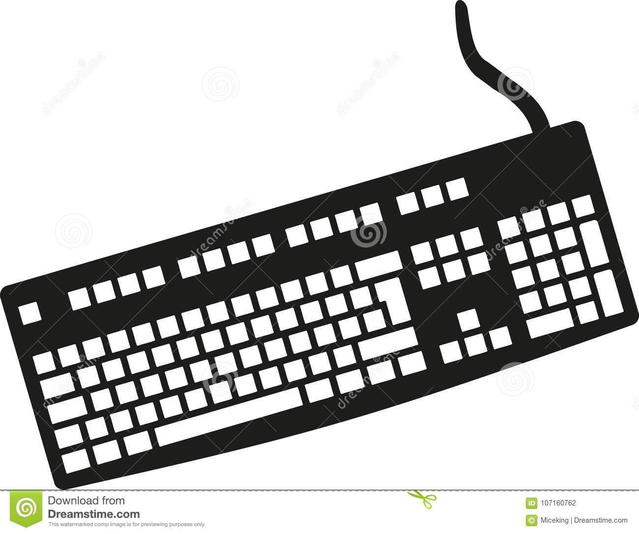 Computer Keyboard Vector Stock Vector Illustration Of