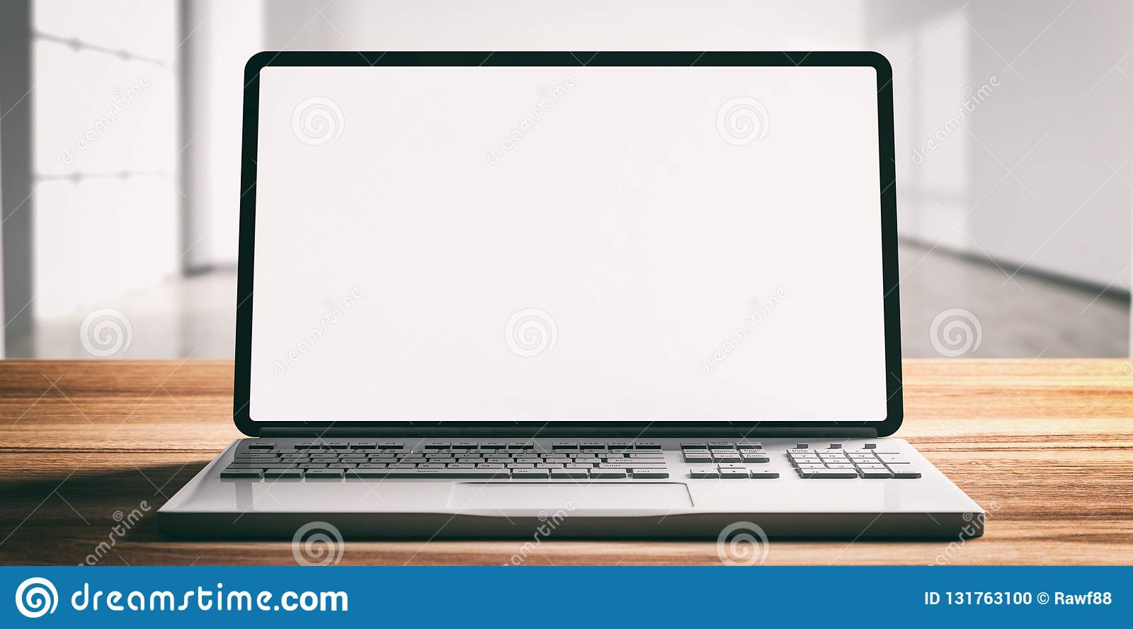 computer laptop with blank