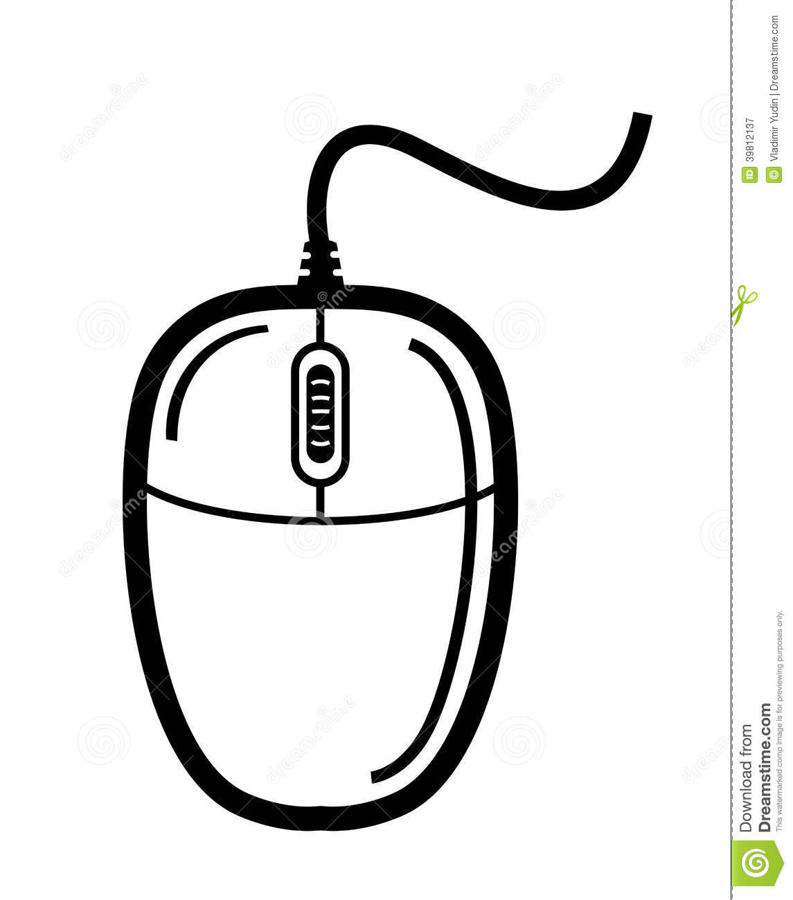 Computer Mouse Stock Vector Illustration Of Keypad