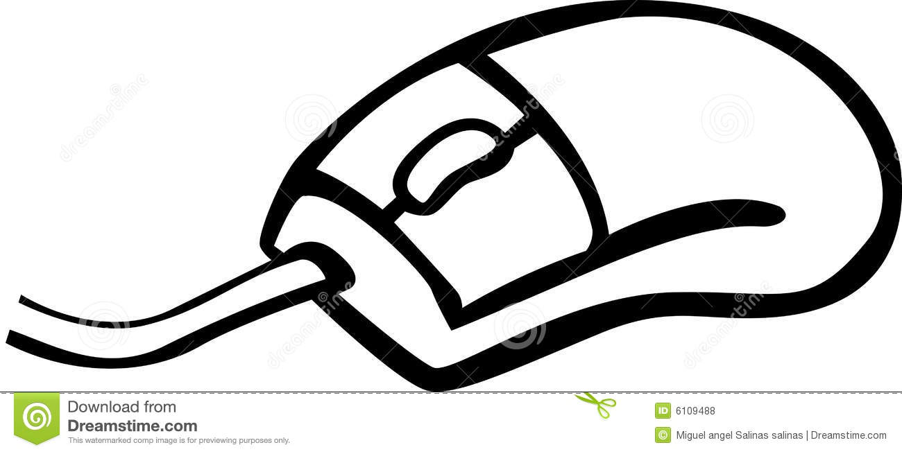 Computer Mouse Vector Illustration Royalty Free Stock