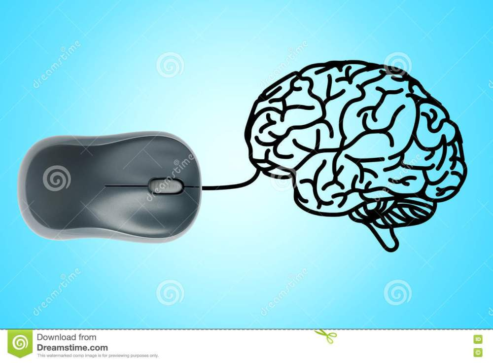 medium resolution of computer mouse wire in to human brain