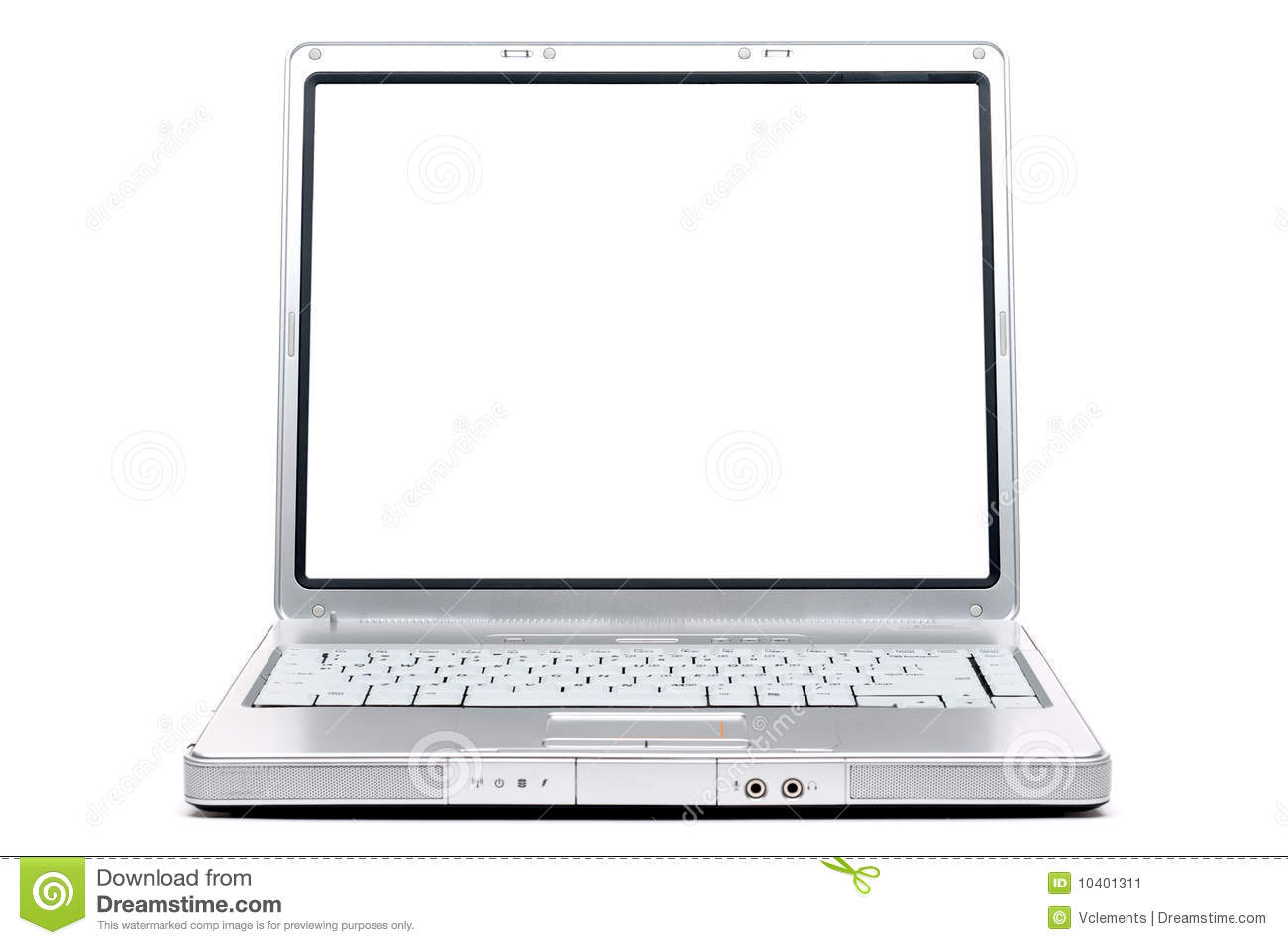 Computer Notebook With A Blank Screen Stock Image