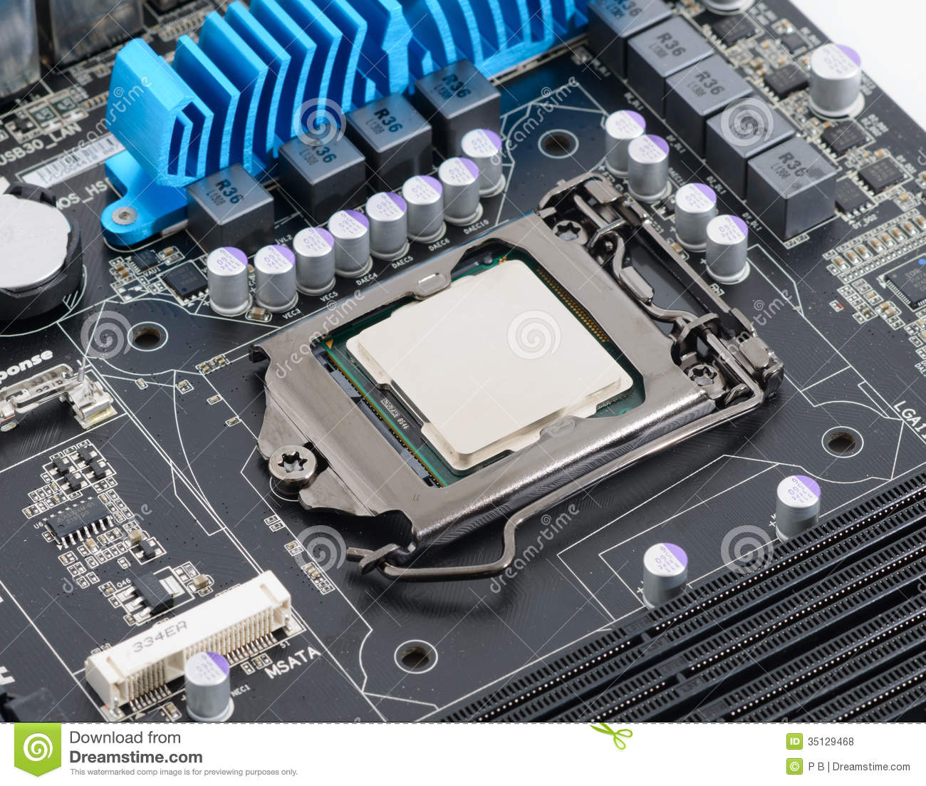Computer processor stock photo. Image of mother, board - 35129468