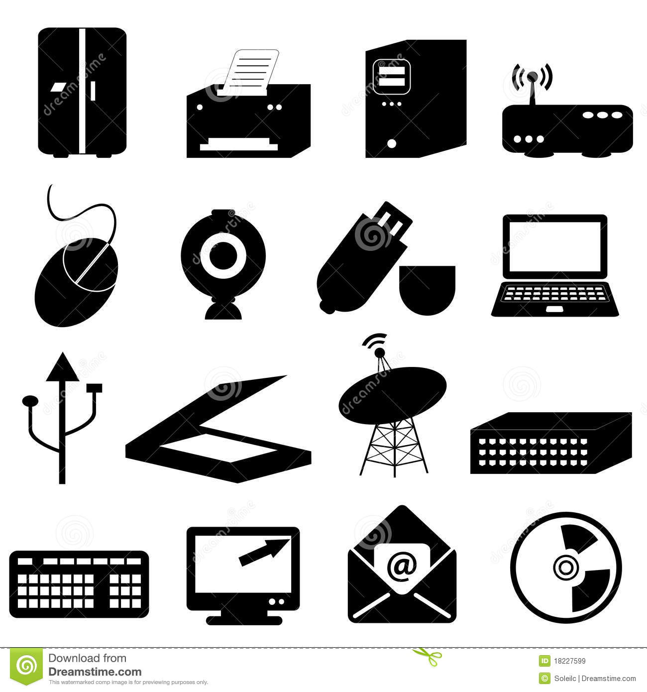 Computer And Technology Icons Royalty Free Stock Images