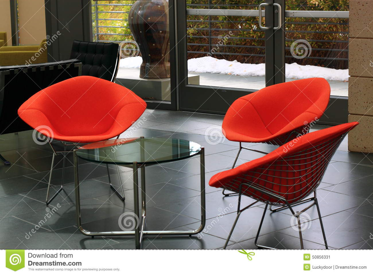 Office Sitting Chairs Comtemporary Office Furniture Stock Photo Image 50856331
