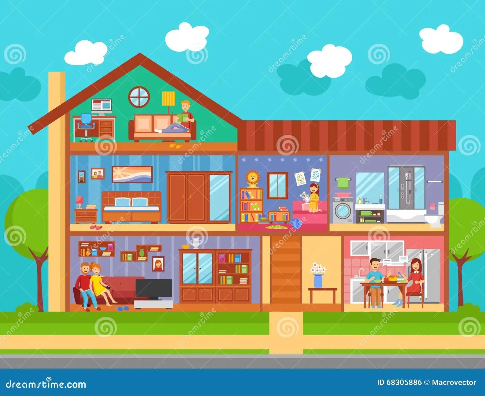 Conceito De Design De Interiores Da Casa Familiar