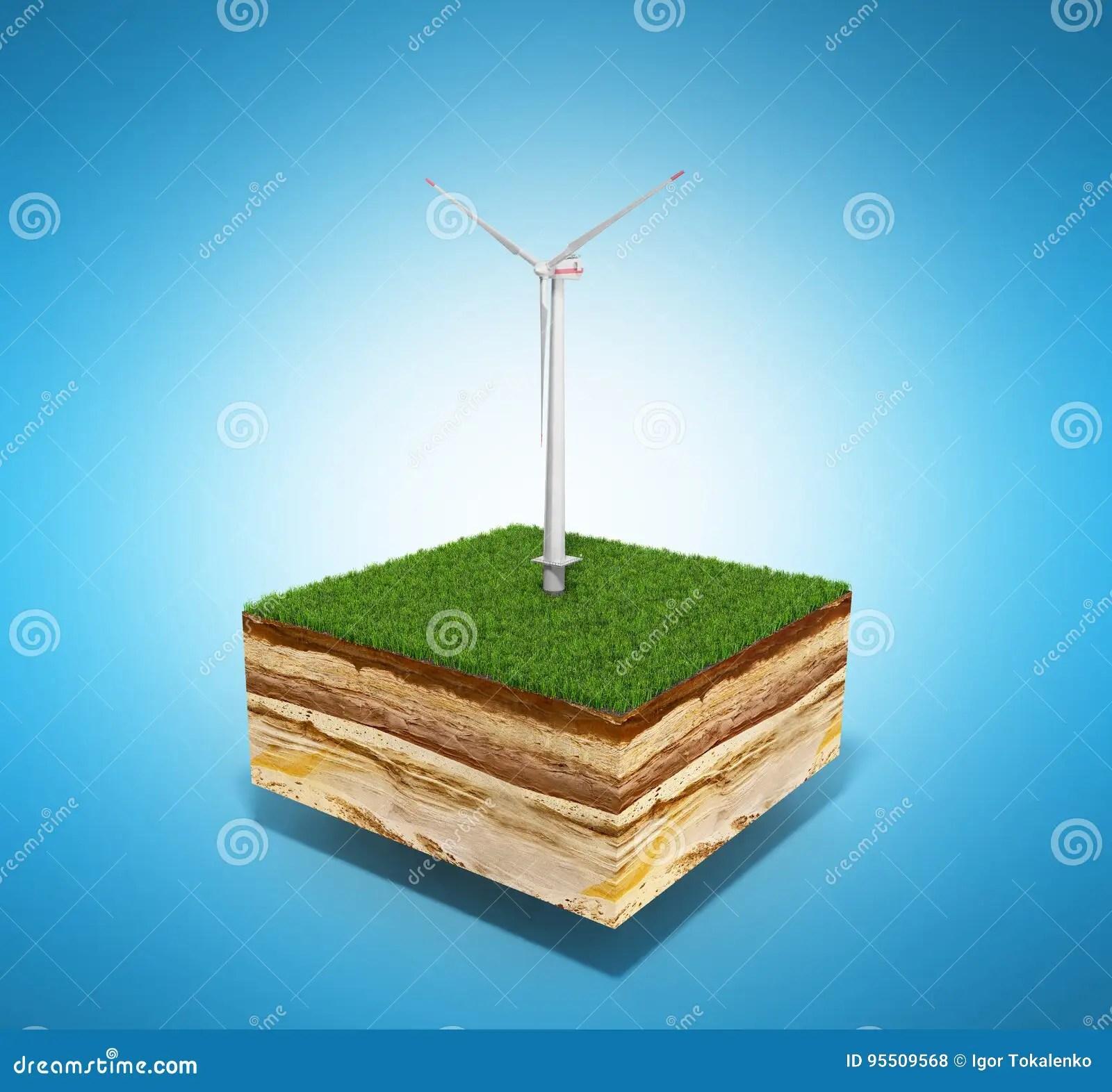 Concept Of Alternative Energy 3d Illustration Of Cross
