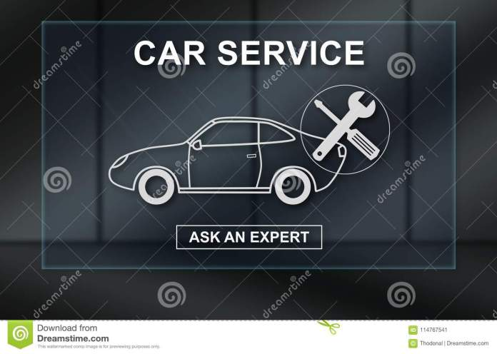 concept of car service stock image. image of mechanic - 114767541