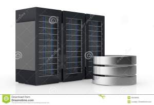 Concept Of Computer Server And Data Storage Stock