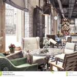 Concept Design Of Modern Restaurant Lounge Bar Train Station Stock Photo Image Of Lounge Food 101656132
